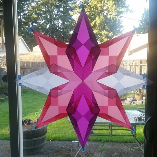 Magic Folded Star Kite