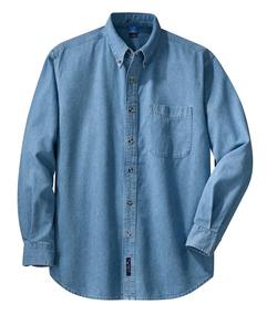 Denim Shirt Faded Blue