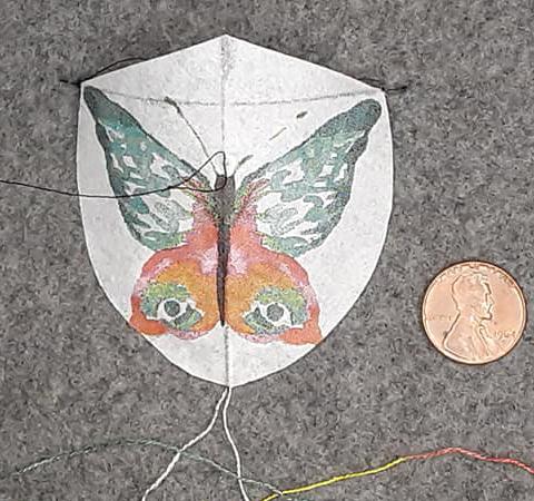 Butterfly shield miniature